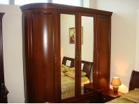 Шкаф Диана 1-но радиусный из натурального дерева