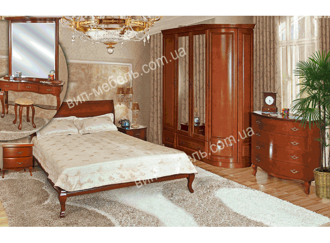 Комплект спальня Диана из натурального дерева