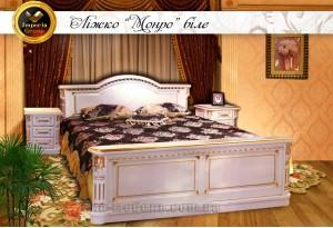 """Кровать """"MONRO"""" белая из массива дерева дуб"""