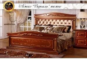 Кровать Версаль темная из массива дерева дуб