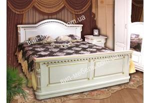 Кровать Монро белая из массива дерева дуб
