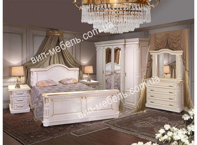 Комплект спальня Монро белая из массива дуба