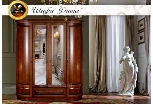 Шкаф двухрадиусный Диана из натурального дерева