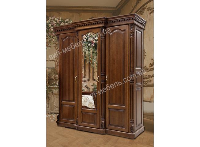 Шкаф Монро 3-дверный из массива дерева дуб