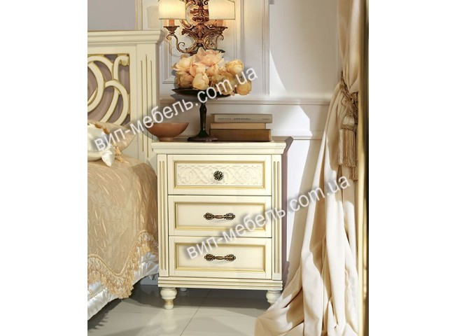 Тумбочка Флоренция белая из дерева
