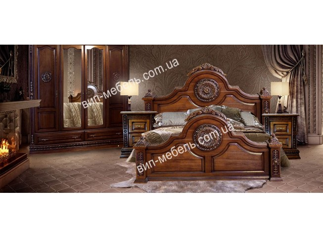 Эксклюзивная спальня Вильгельм из массива дуба